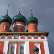 Christian orthodox church on cloudy background — Stock Photo