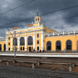 Town railway station — Stock Photo