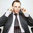 Businessman with a pair of modern glasses — Stock Photo #8206059