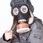 Man wearing a gas mask — Stock Photo #8206696