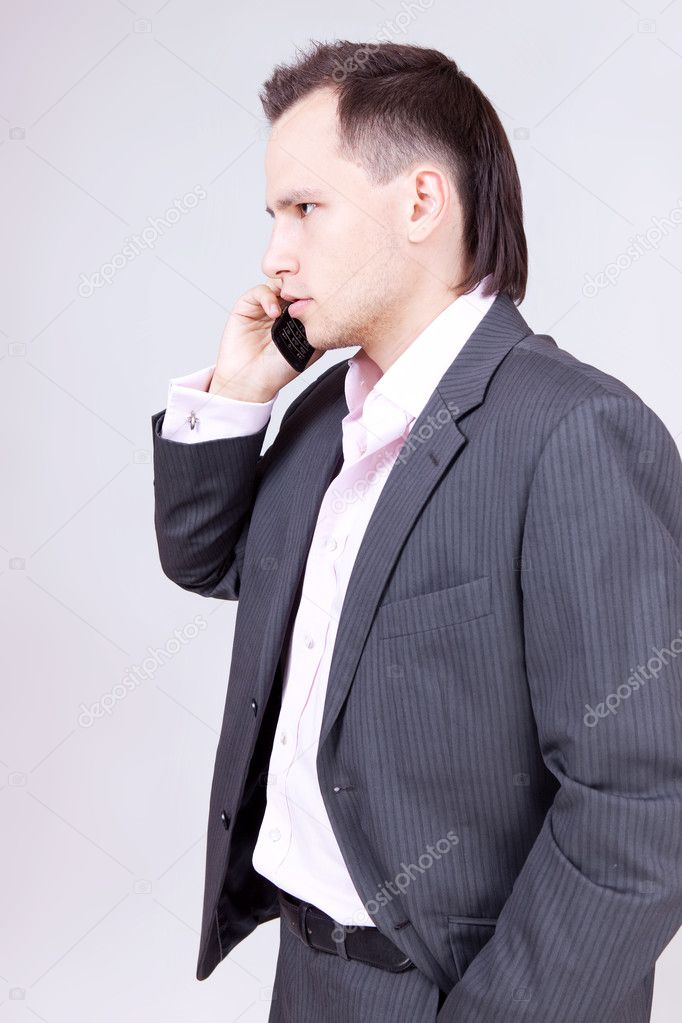 Businessman calling — Stock Photo #8205800