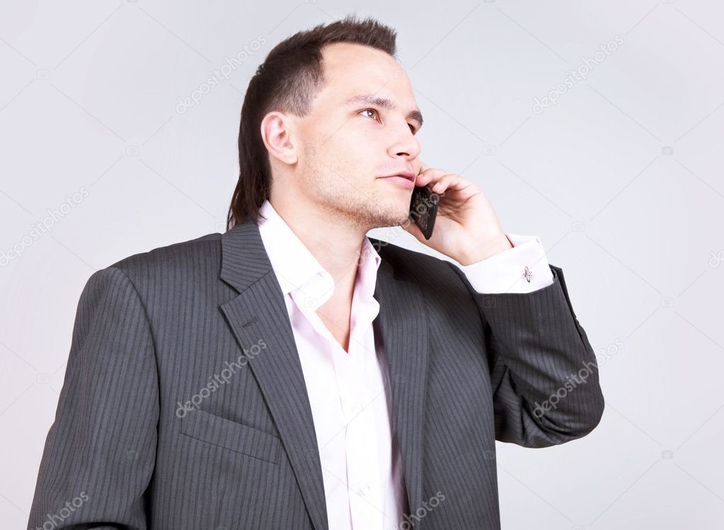 Businessman calling  Stock Photo #8205806