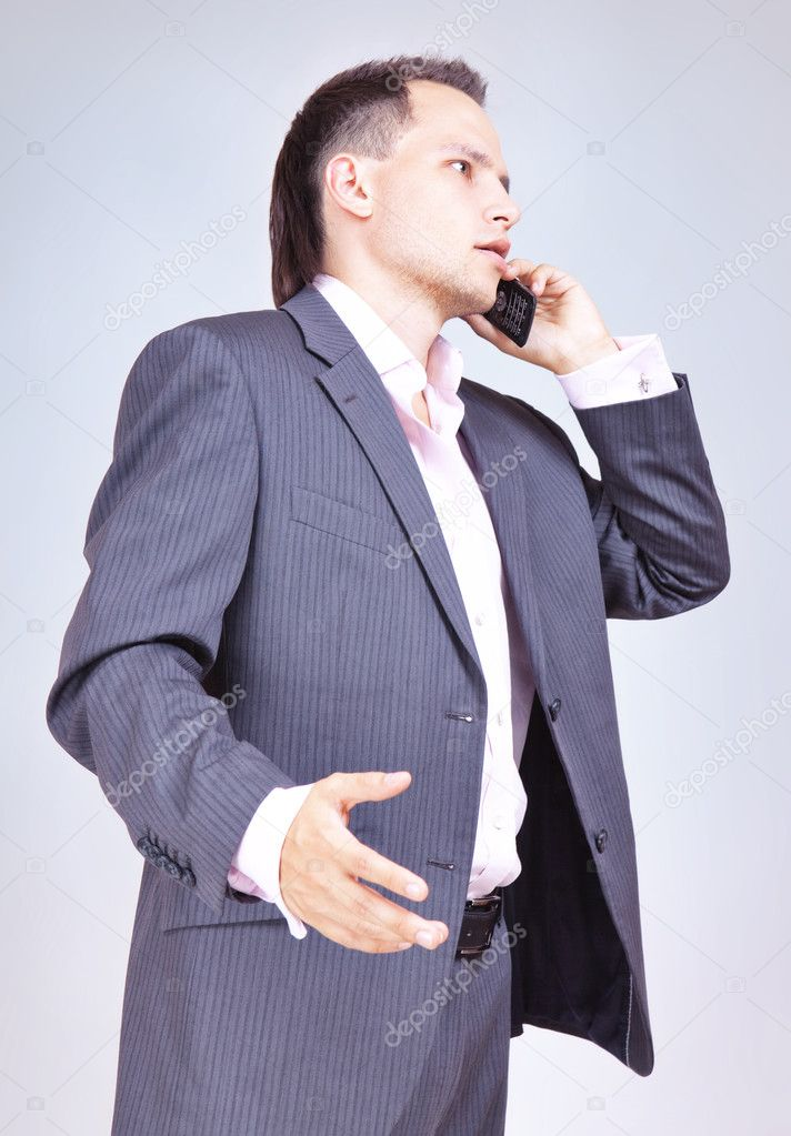 Businessman Using Phone — Stock Photo #8205823