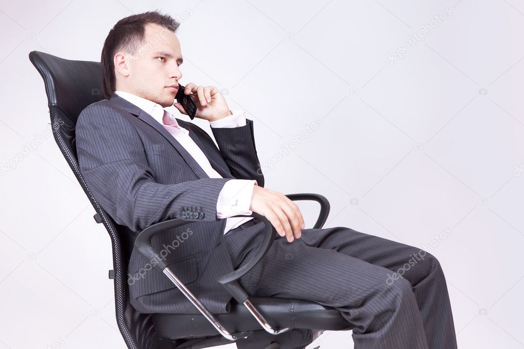 Businessman Using Phone — Stock fotografie #8205880
