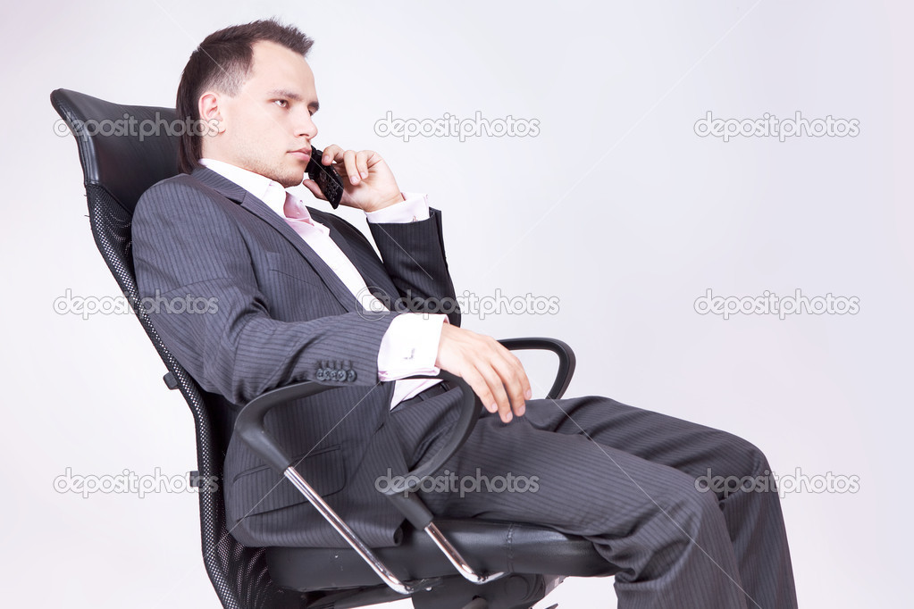 Businessman Using Phone   #8205880