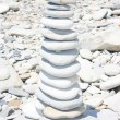 Stone stack on the beach — Stock Photo