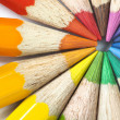 Stock Photo: Color pencils circle macro.