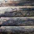 Stock Photo: Close-up of burnt wood background