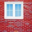Brick wall with window — Stock Photo #8213774