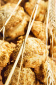 Cookie heap close up background. — Stock Photo