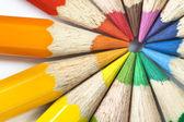 Färgpennor cirkel makro. — Stockfoto