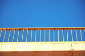 Bridge close-up with blue sky — Stock Photo