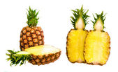 Pineapple isolated on white background. — Stock Photo