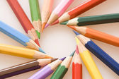 Twisting pencils — Stockfoto