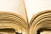 Vintage book pages closeup — Stock Photo