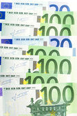 Heap of euro close up — Stock Photo