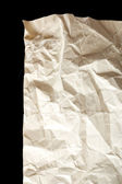 Crumpled paper close up background — Stock Photo