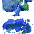 Two paint stains — Stock Photo