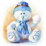 Hand drawn teddy bear — Stock Photo