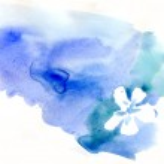 Watercolor blot, beautiful background — Stock Photo