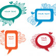 Colorful labels/speech bubbles set — Stock Vector