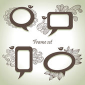 Frame set — Stock Vector