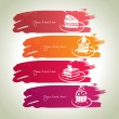 Royalty-Free Stock Vector Image: Sweet banners