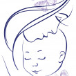 Mother and baby — Imagen vectorial