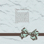 Vintage template background with crushed paper and ribbon — Stock Vector