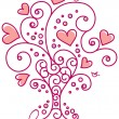 Floral design of Valentines day - Stock Vector