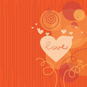 Love background with abstract hearts — Stock Vector