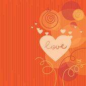 любовь фон с абстрактного сердца — Cтоковый вектор