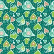 Seamless pattern with abstract hearts - Stock Vector