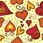 Bezešvé vzor s abstraktní srdce — Stock vektor
