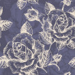 Seamless floral pattern with roses — Stok Vektör
