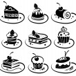 Set of cakes — Stock Vector #8842629