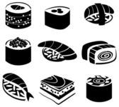 Set of sushi — Stock Vector