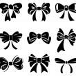 Set of bow — Stock Vector #9106396