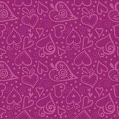 Seamless pattern with abstract hearts — Stock Vector