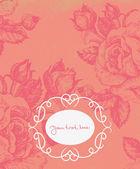 Floral background with vintage frame — Stock Vector