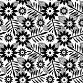 Abstract floral seamless pattern — Vector de stock