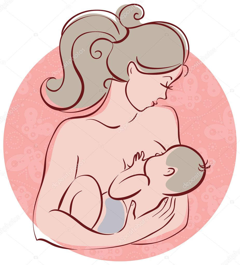 妈妈和宝宝 — 矢量图片作者