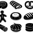 Bakery icon set - Stock Vector