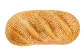White bread with sesame. View from above. — Stock Photo