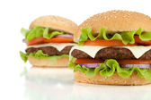 Two fresh burgers — Stock Photo