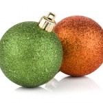 Two christmas balls — Stock Photo #8419404
