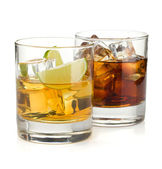 Whiskey and cola cocktails — Stock Photo