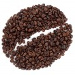 Coffee bean made from beans — Stock Photo