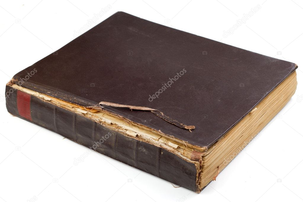 Old book isolated on white background — Stock Photo #8961498