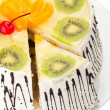 Tasty creamy cake with fruits — Stock Photo #8979715